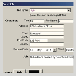 job-system screenshot